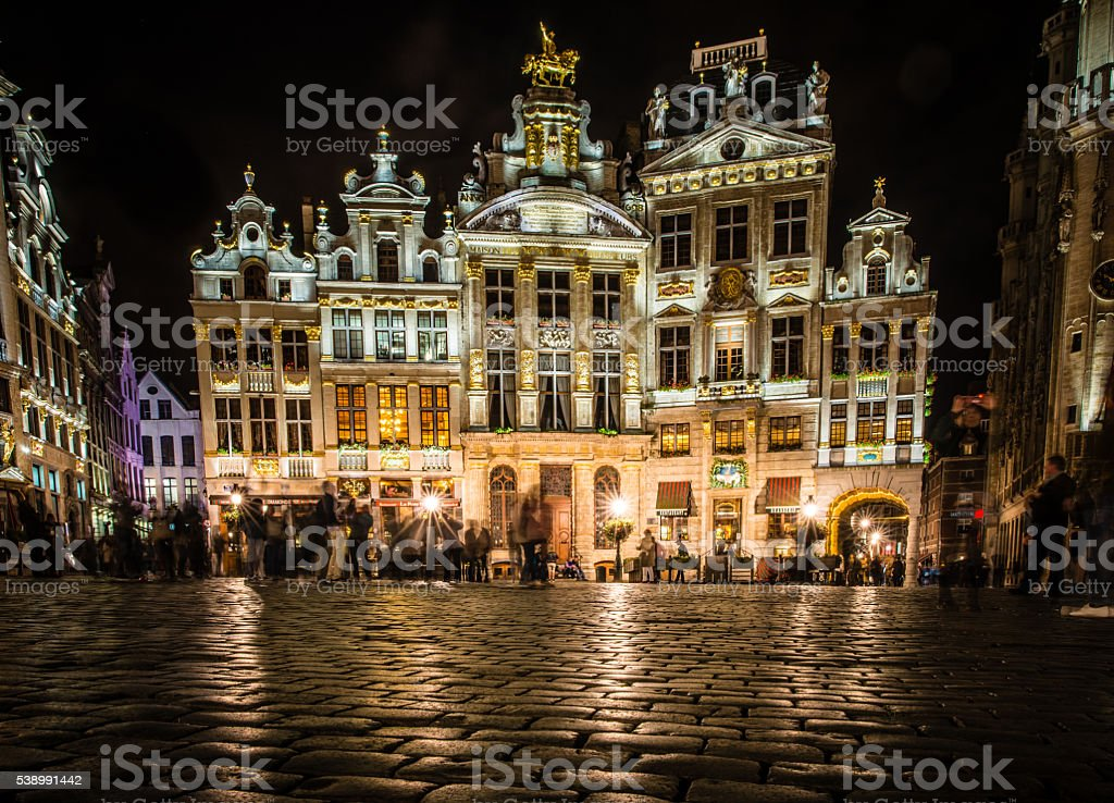 Breadhouse at the Gran Place Square in Brussels stock photo