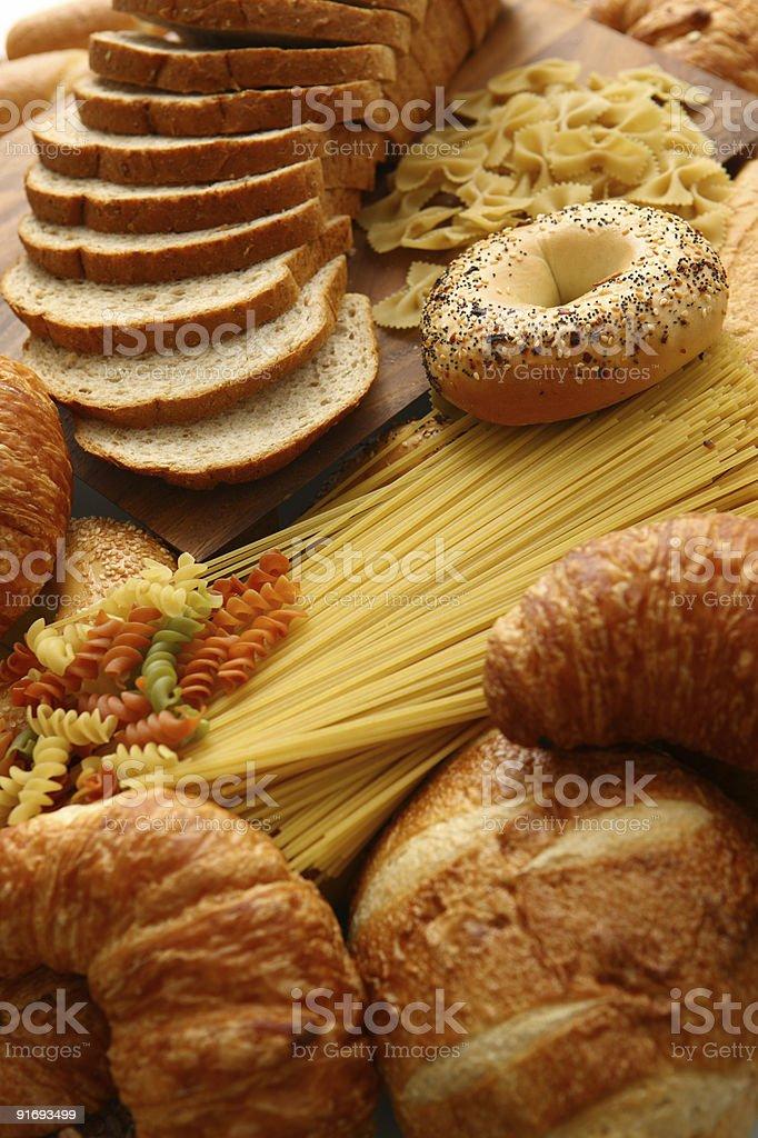 Bread-pasta group royalty-free stock photo