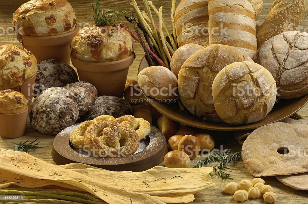 Breads and cakes royalty-free stock photo