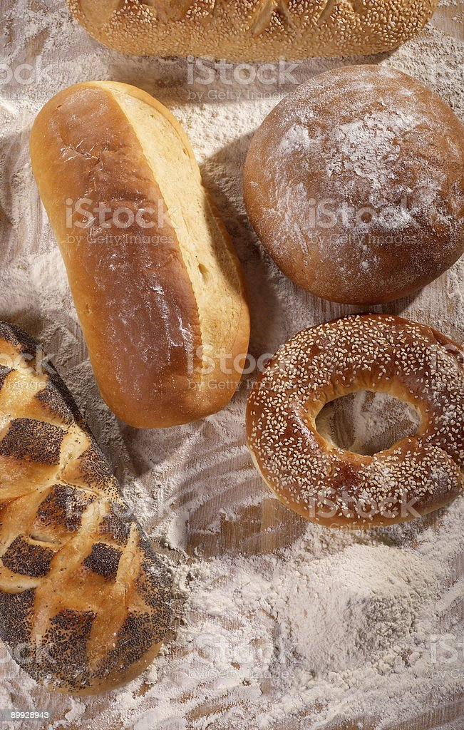 breads and flour royalty-free stock photo