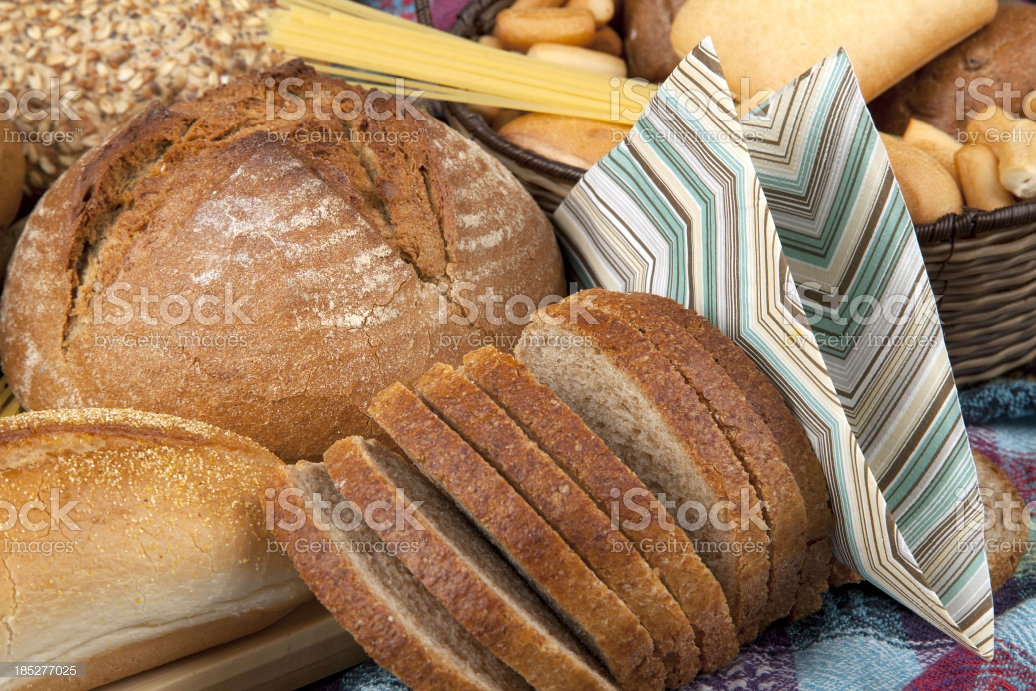 Breads and Napkin royalty-free stock photo