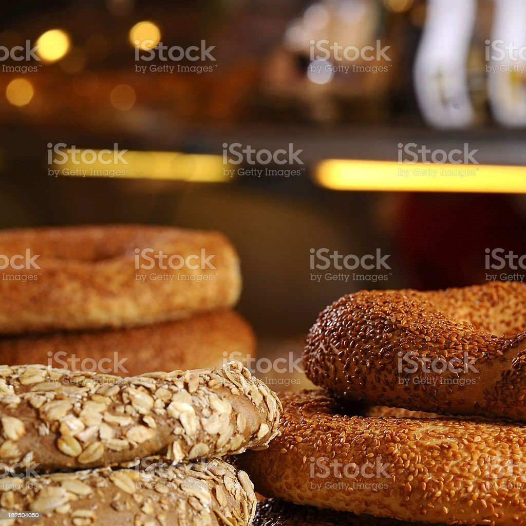 breads with sesame in bakery royalty-free stock photo