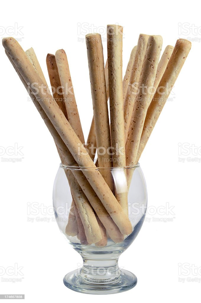 Breadsticks with wholemeal royalty-free stock photo
