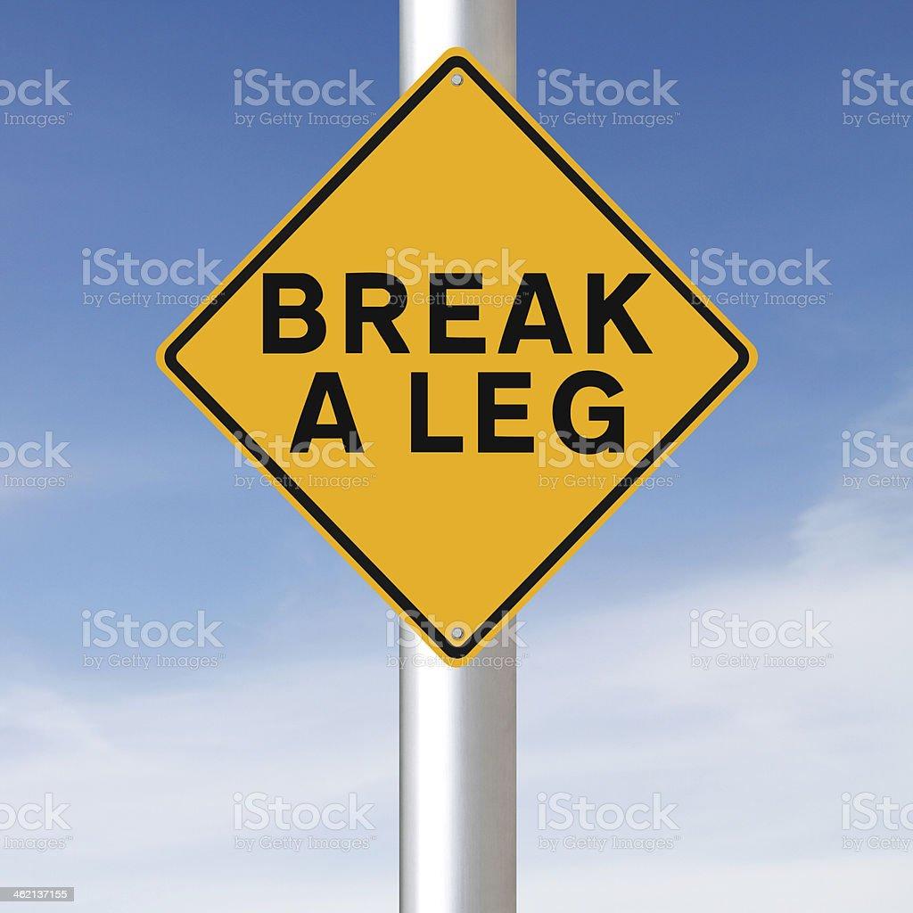 Break A Leg stock photo