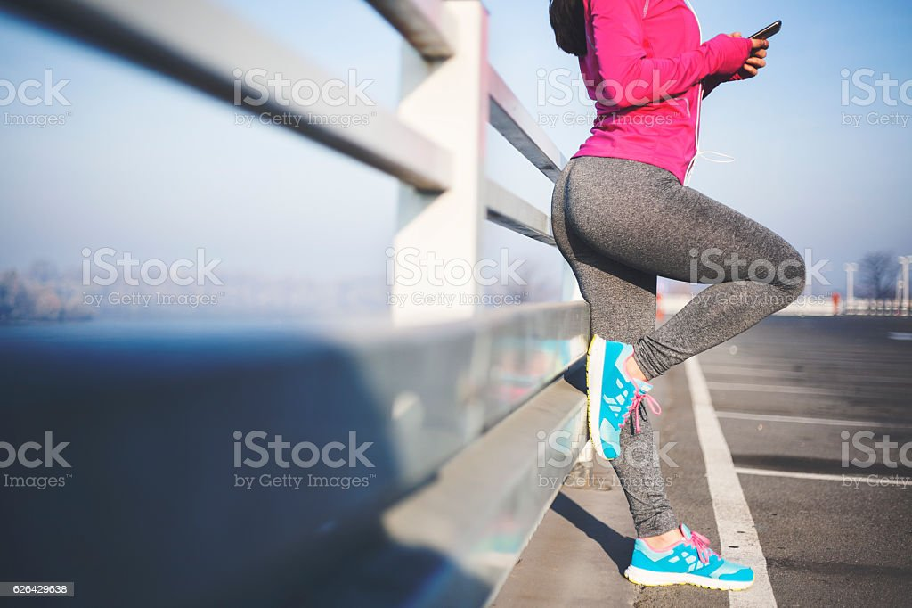 Break after jogging royalty-free stock photo
