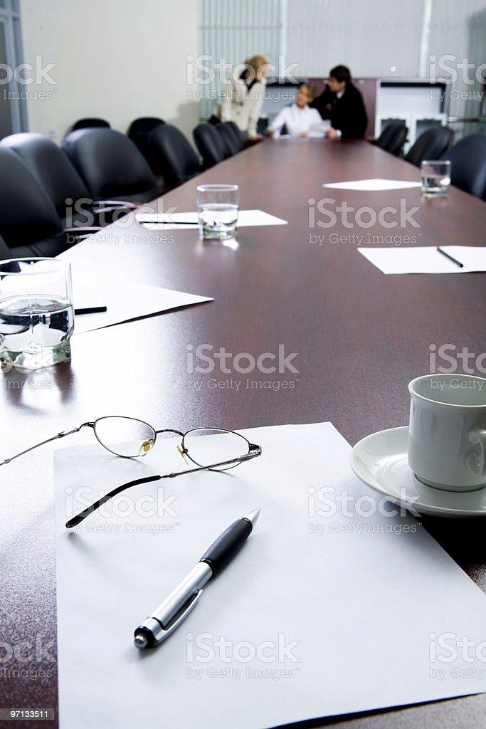 Break at business meeting stock photo