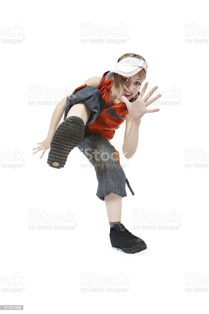 Break Dancing Girl royalty-free stock photo