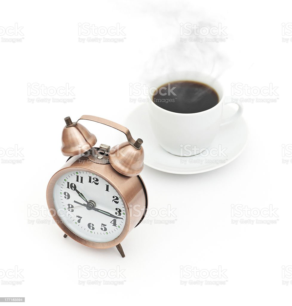 break for coffee isolated on white background royalty-free stock photo