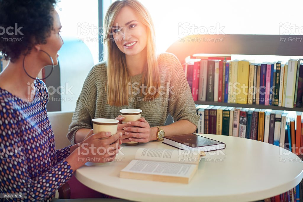 Break for good coffee and good book stock photo
