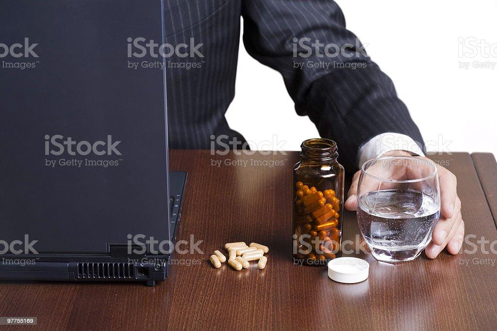 Break for pills royalty-free stock photo