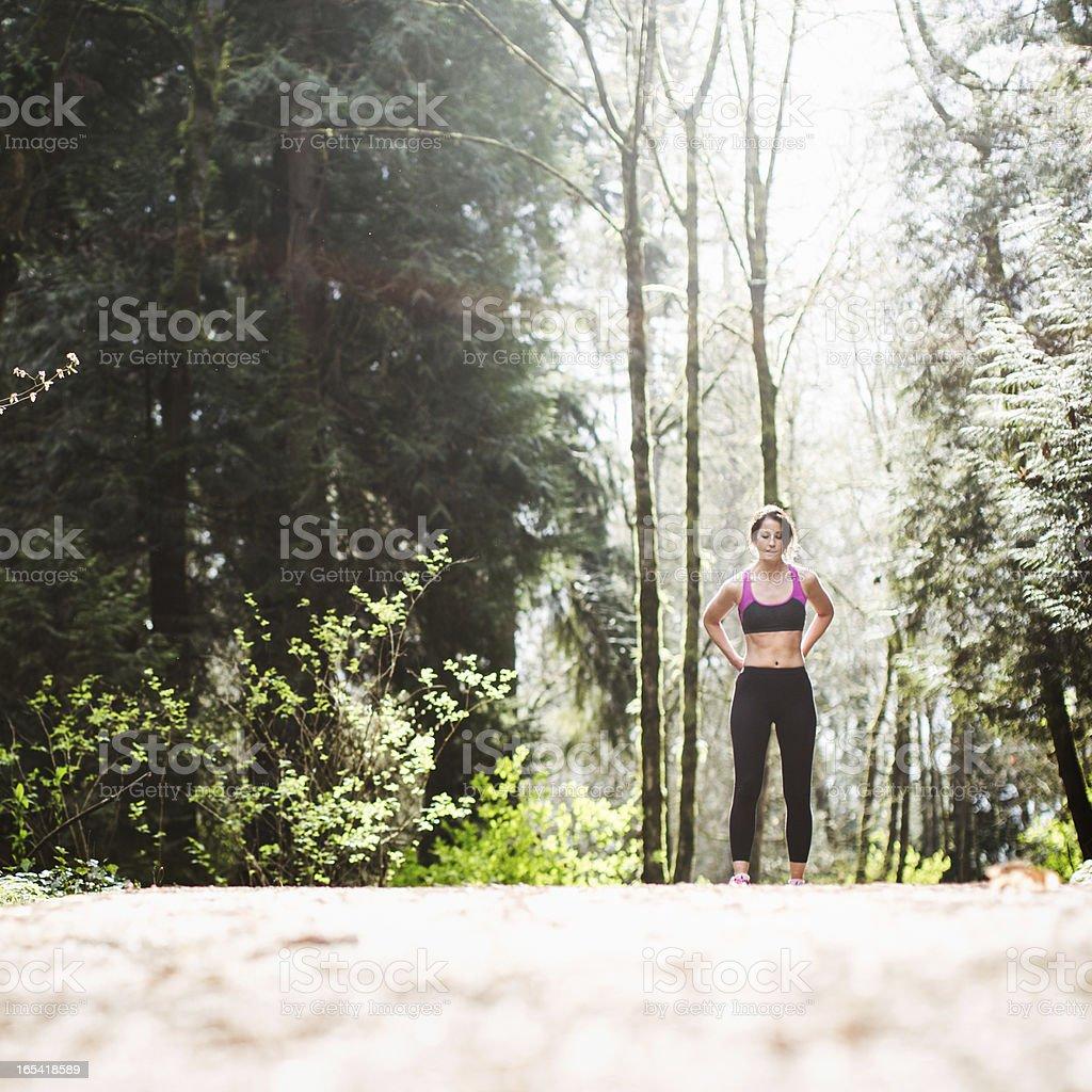 Break From A Run royalty-free stock photo