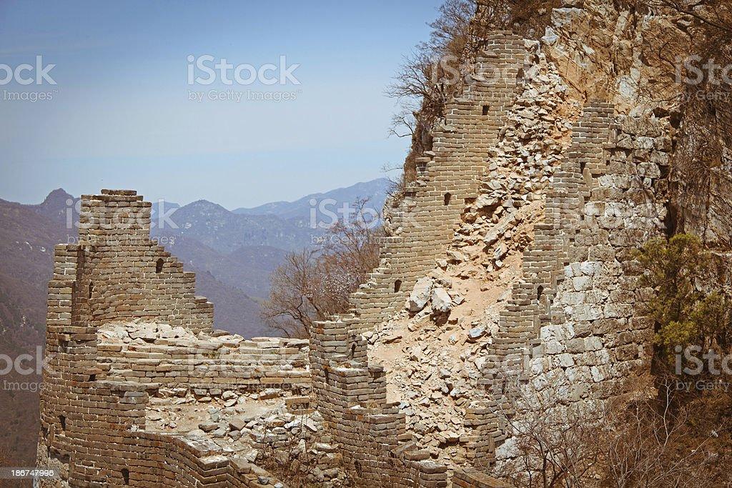 break Great Wall at JianKou royalty-free stock photo