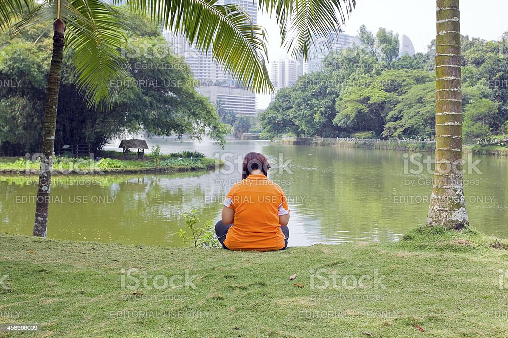 Break in oasis of town royalty-free stock photo