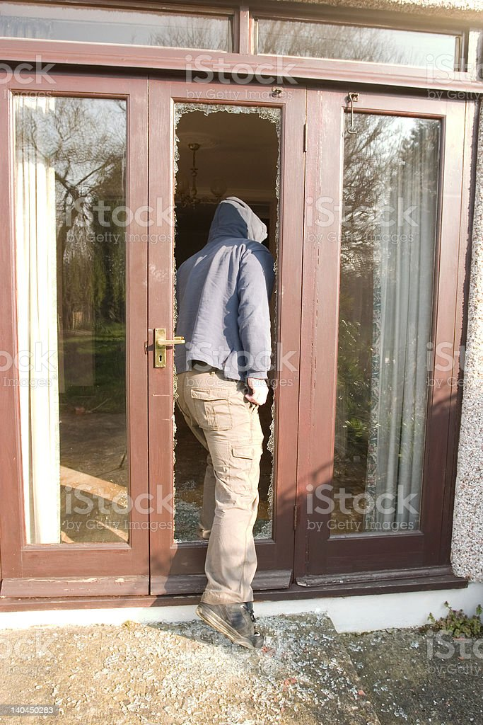 break in! stock photo