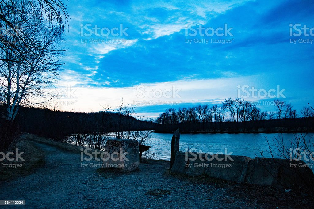 break in the clouds royalty-free stock photo