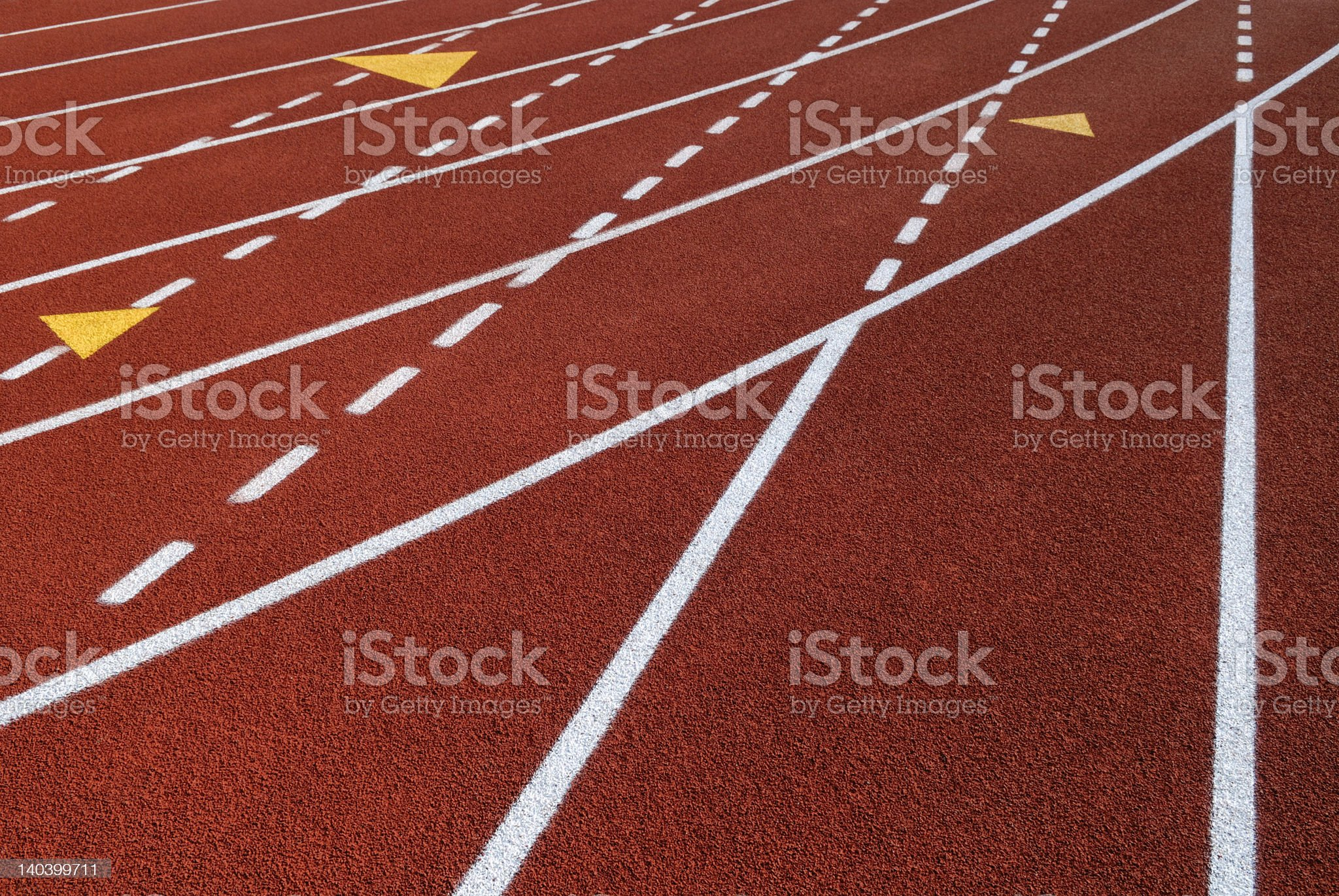 Break lines and yellow triangles royalty-free stock photo