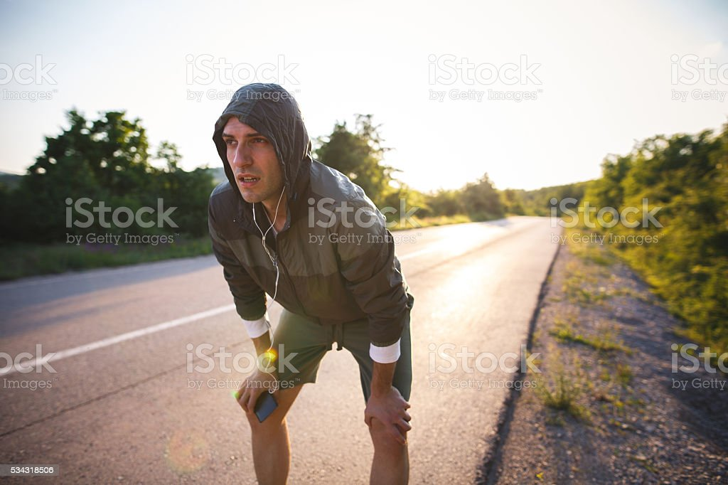 Break of running stock photo
