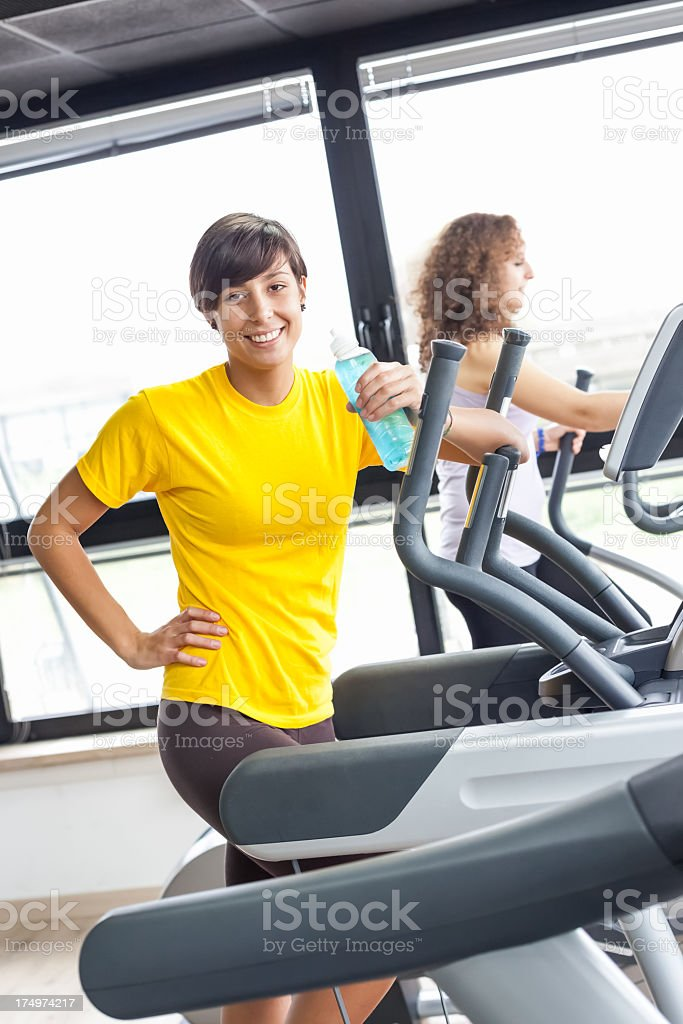 Break on Treadmill royalty-free stock photo