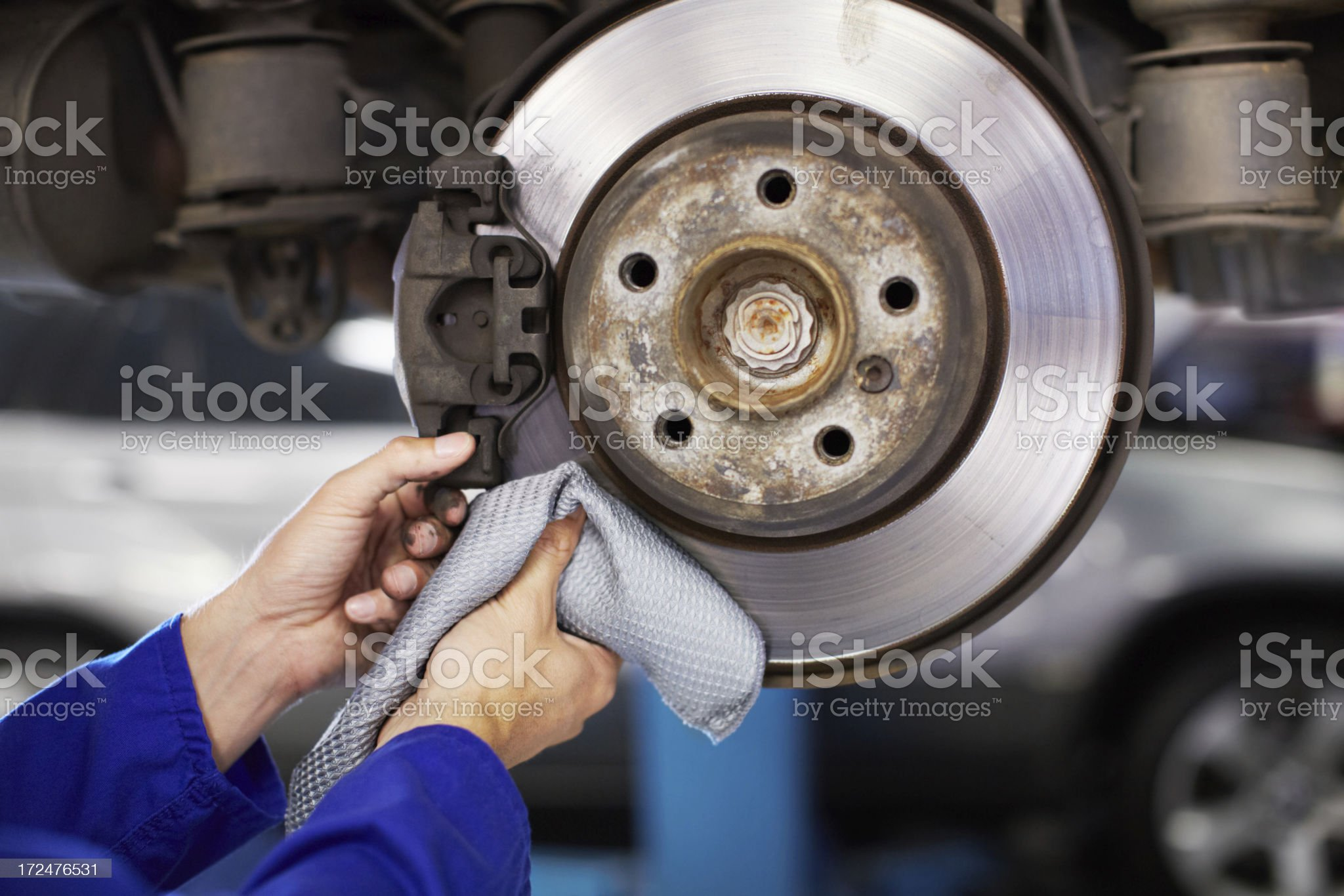 Break pad and plate must be in good shape! royalty-free stock photo