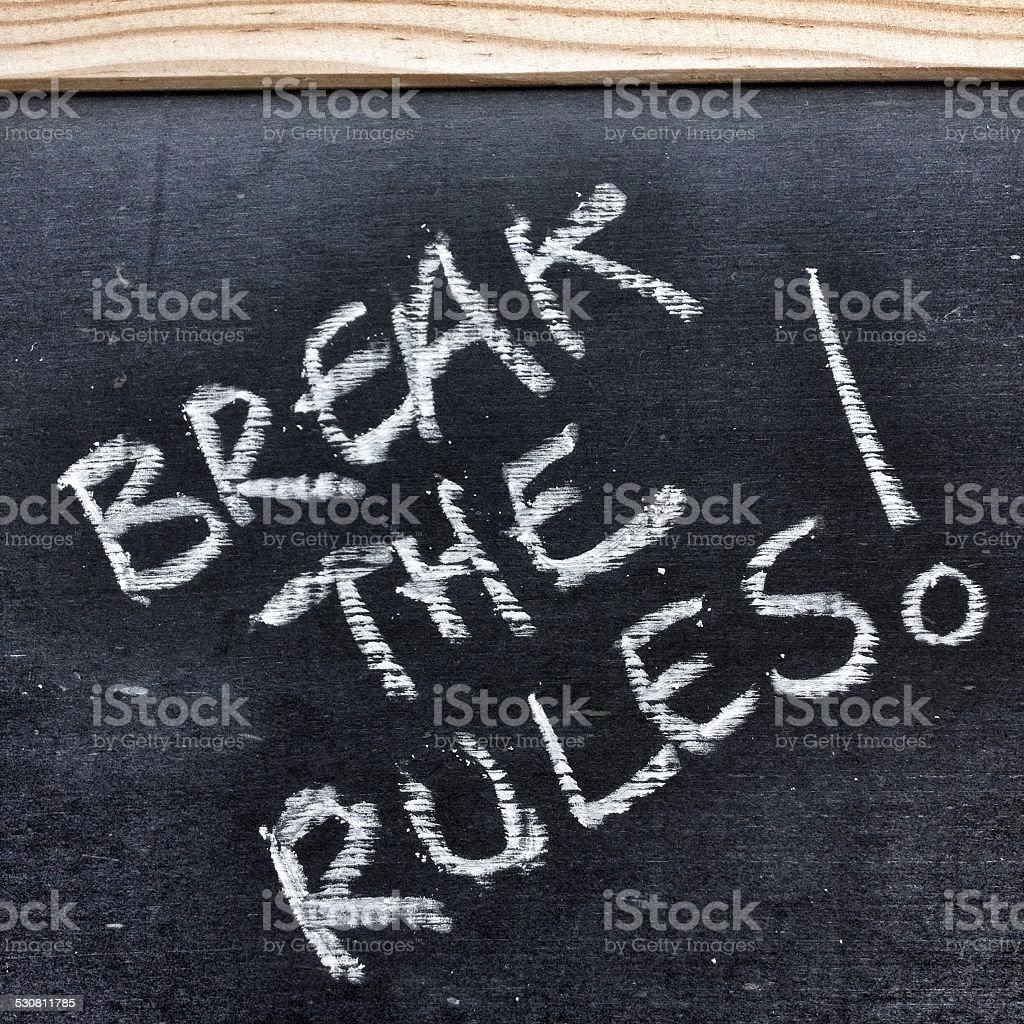 Break the Rules stock photo