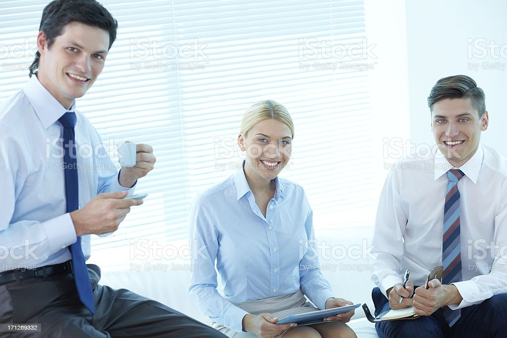 Break with colleagues royalty-free stock photo