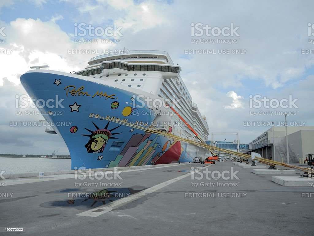 NCL Breakaway at Port Canaveral stock photo
