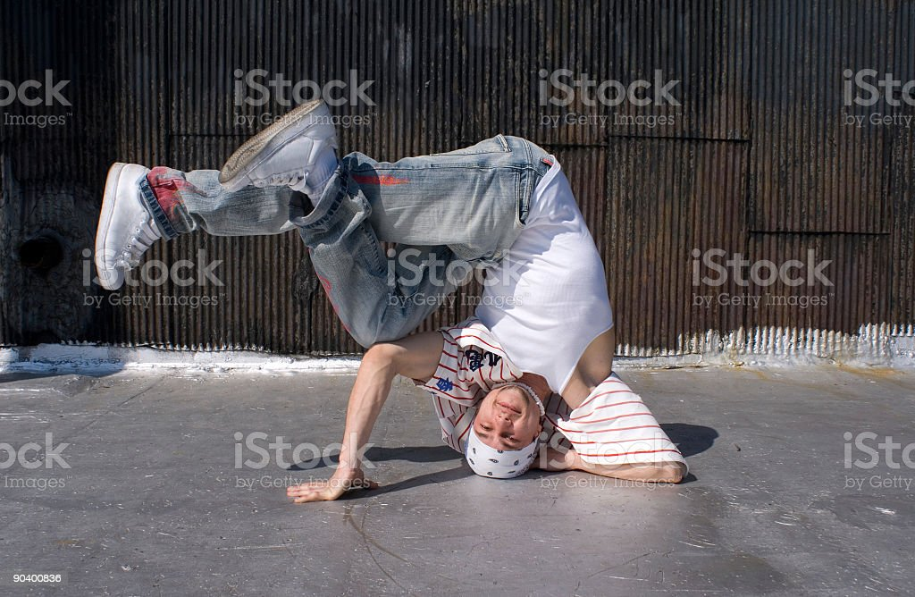 Break-dancer royalty-free stock photo