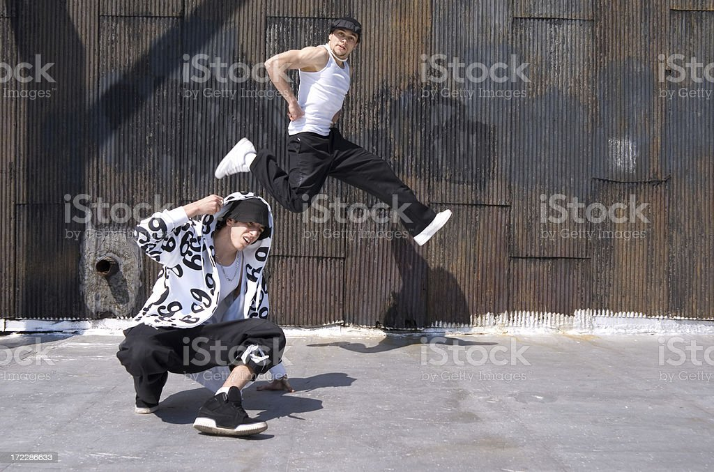 breakdancers royalty-free stock photo