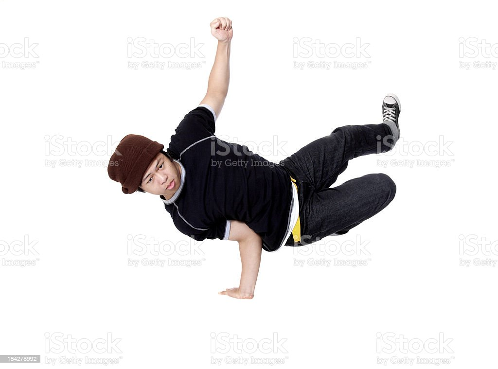 Breakdancing Side Hold stock photo