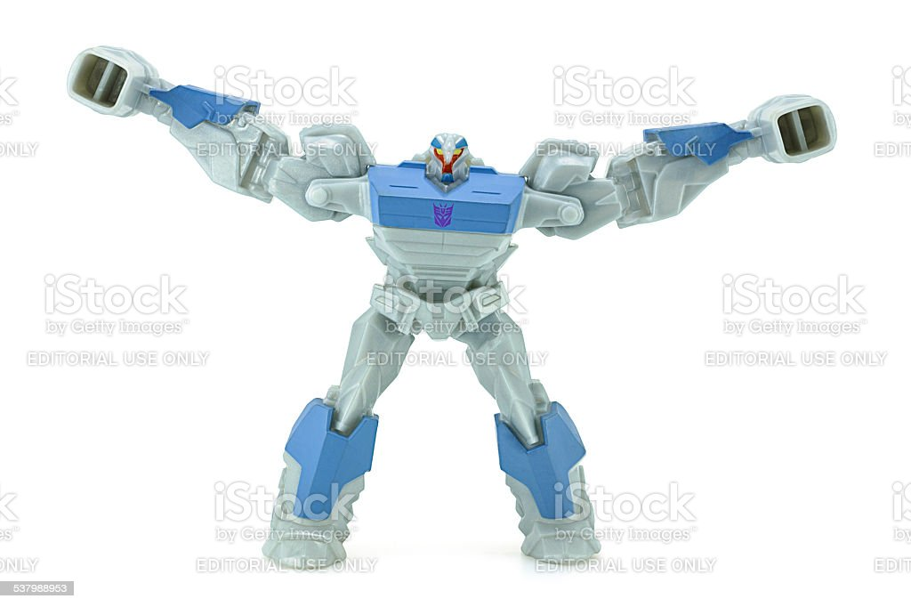 Breakdown toy character from TRANSFORMERS Prime animation series stock photo