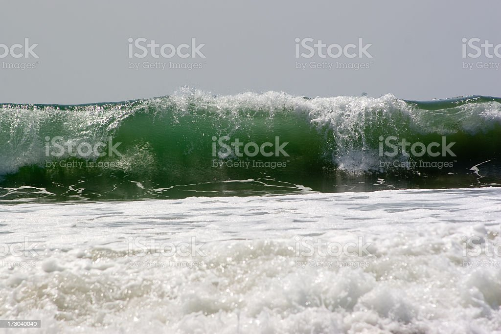 breaker on the Pacific Ocean royalty-free stock photo