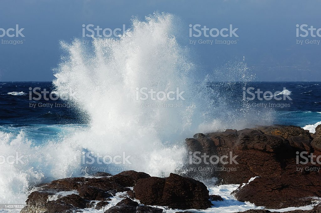 Breaker on the rock royalty-free stock photo