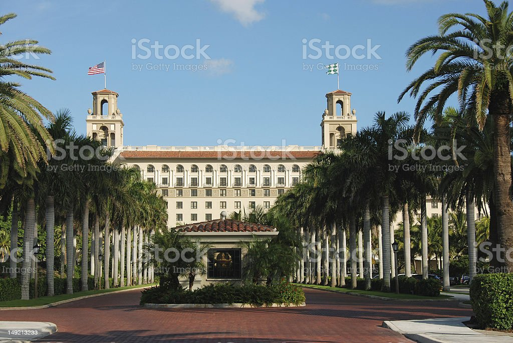 Breakers in Palm Beach, Florida stock photo