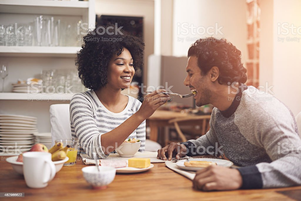Breakfast affections stock photo