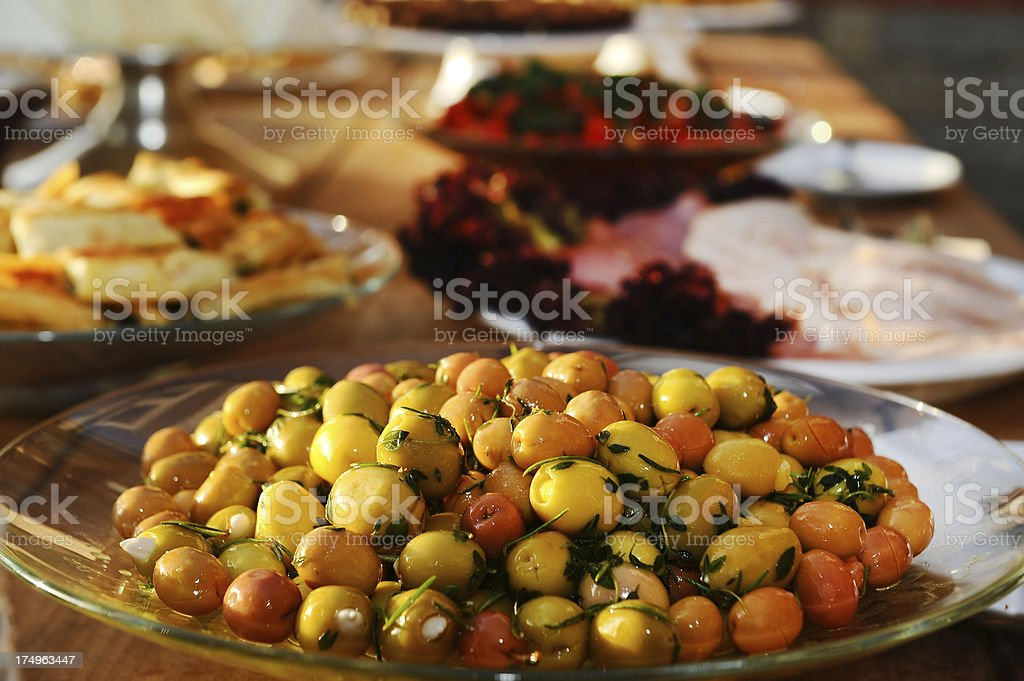 breakfast and olives royalty-free stock photo