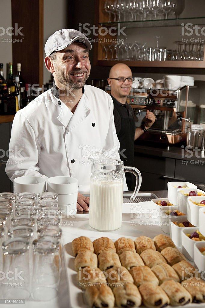 Breakfast at the Inn stock photo