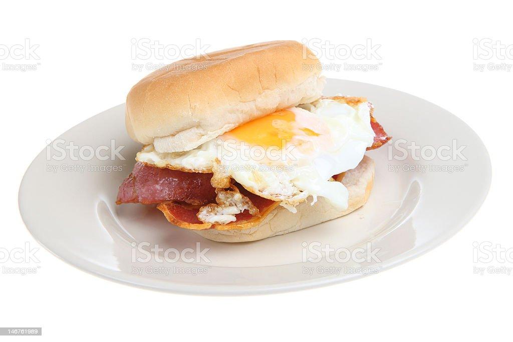 Breakfast Bacon & Egg Roll royalty-free stock photo