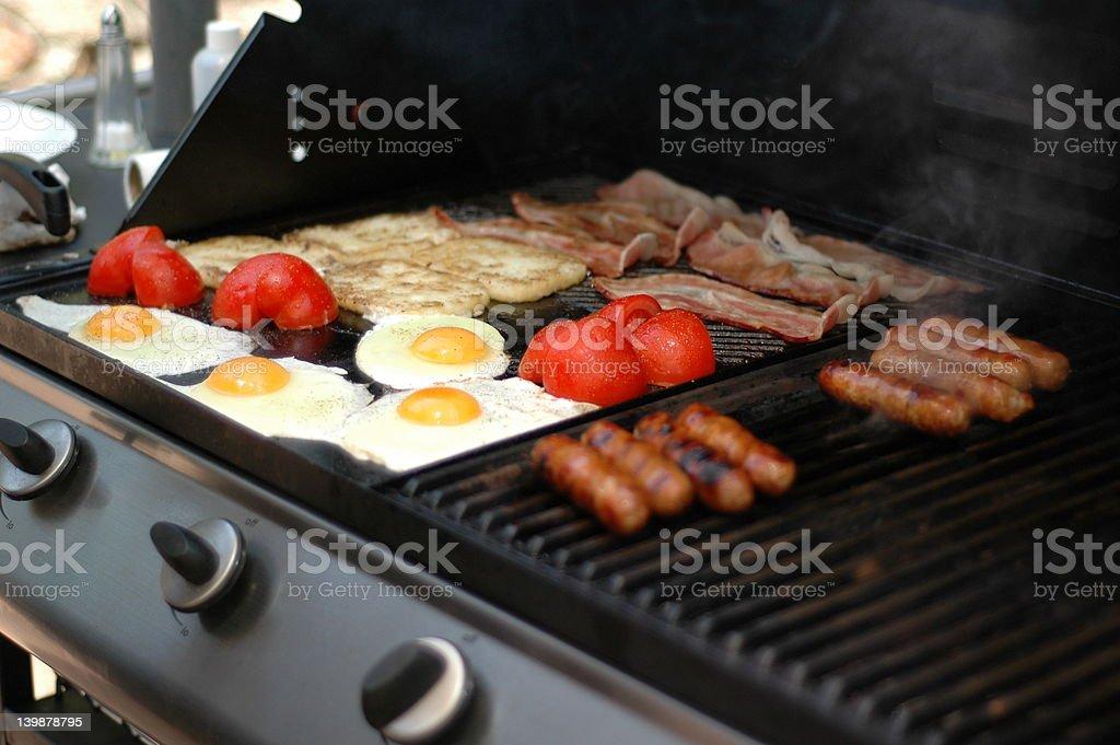 Breakfast BBQ stock photo