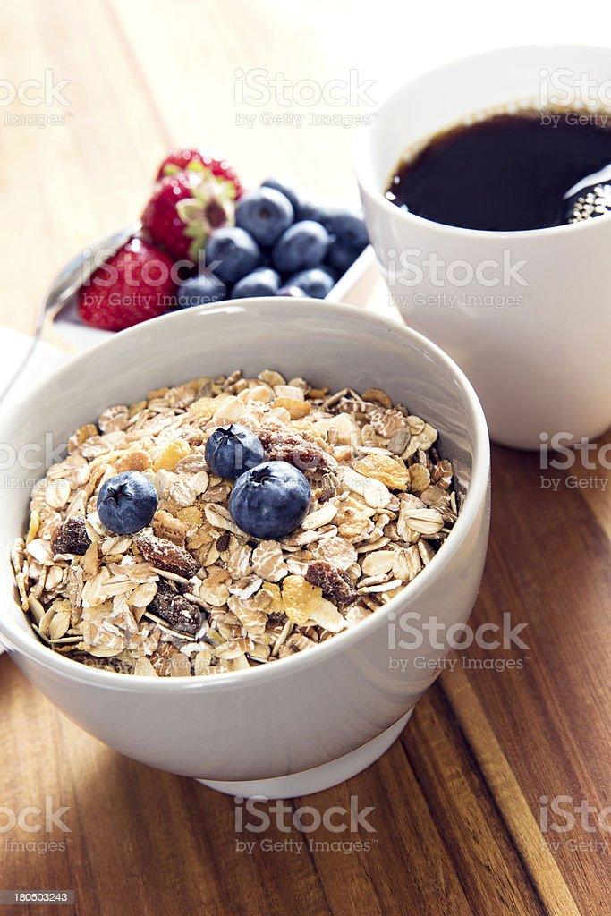 Breakfast bowl of muesli with fresh berries royalty-free stock photo