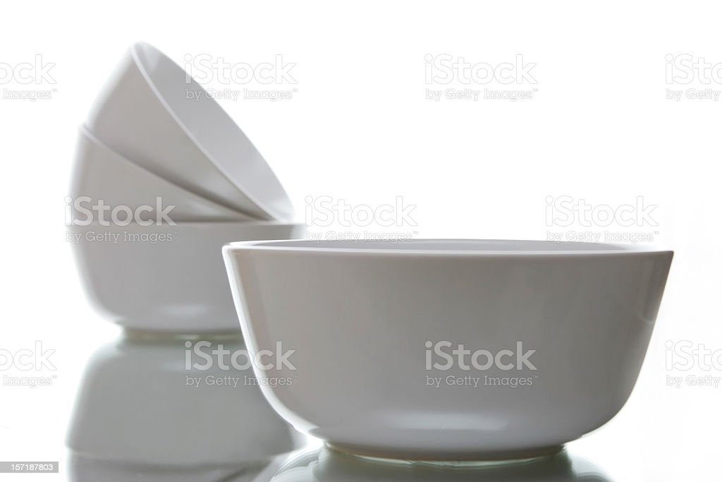 breakfast bowls for cereal royalty-free stock photo