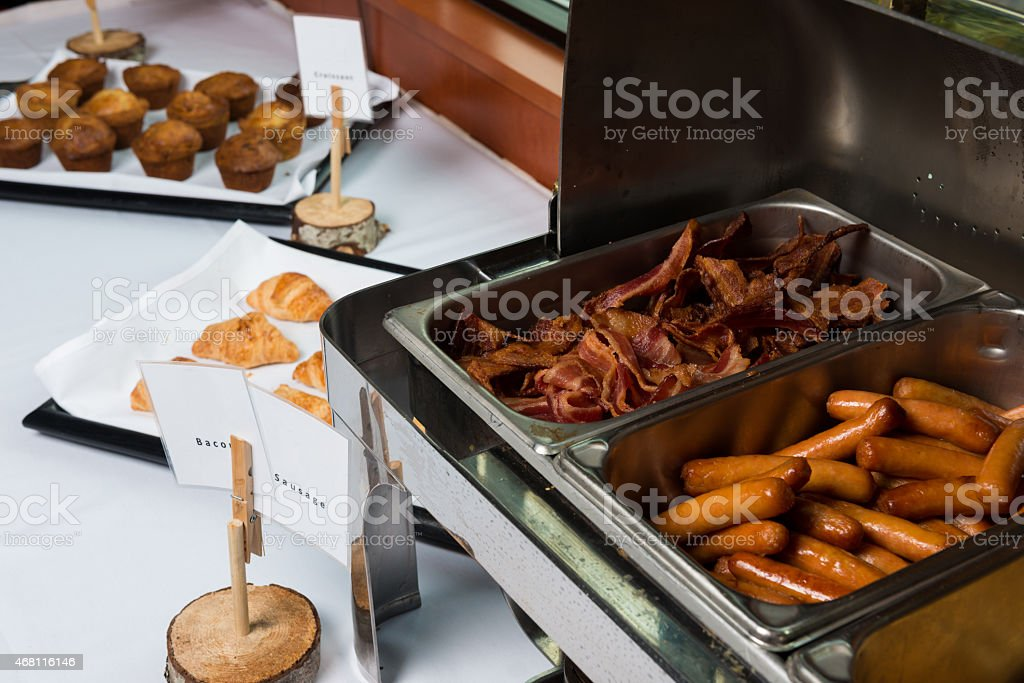 Breakfast Buffet at a Hotel stock photo