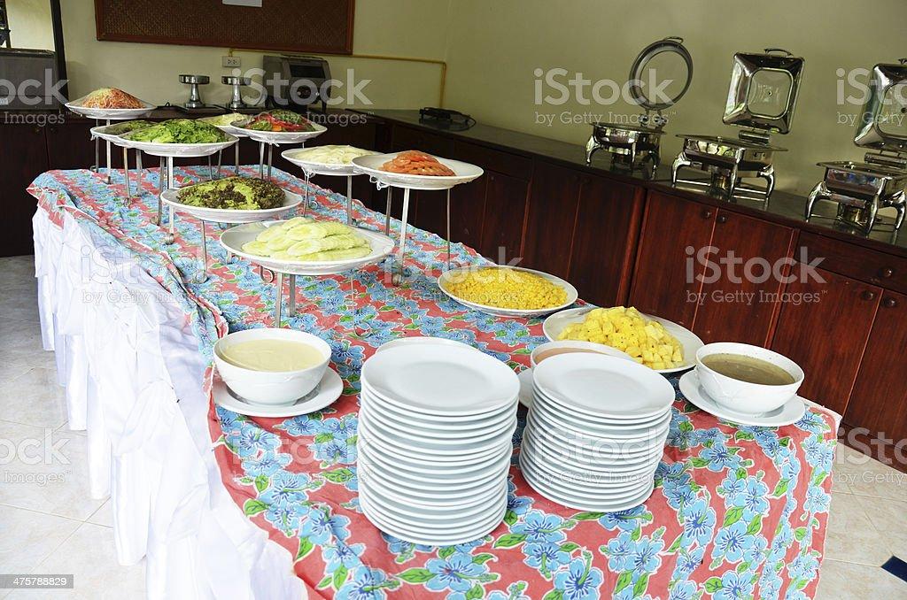Breakfast Buffet in resort stock photo