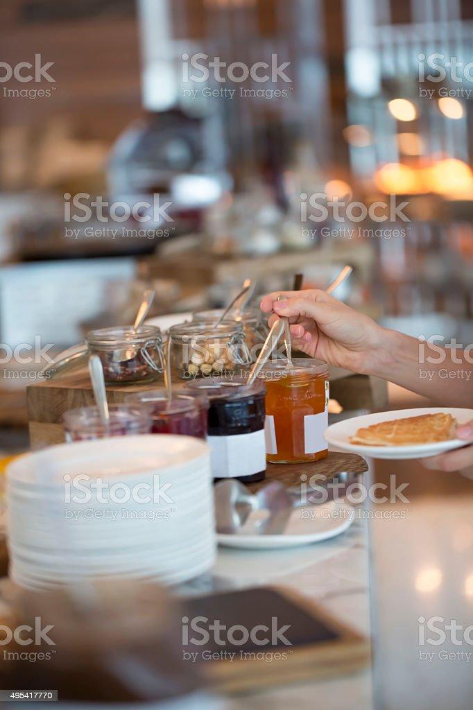 Breakfast buffet stock photo