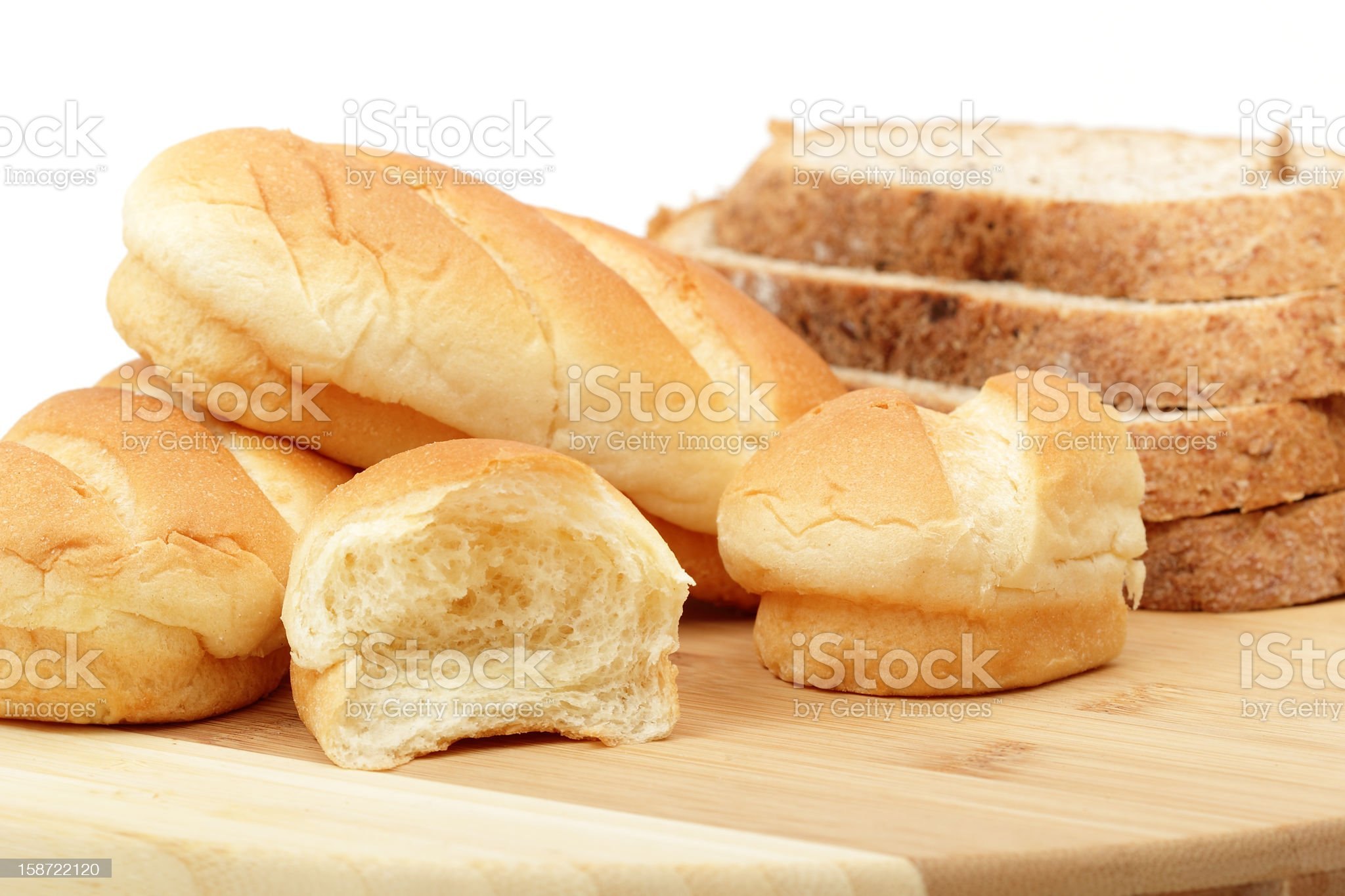 Breakfast buns and Brown bread royalty-free stock photo