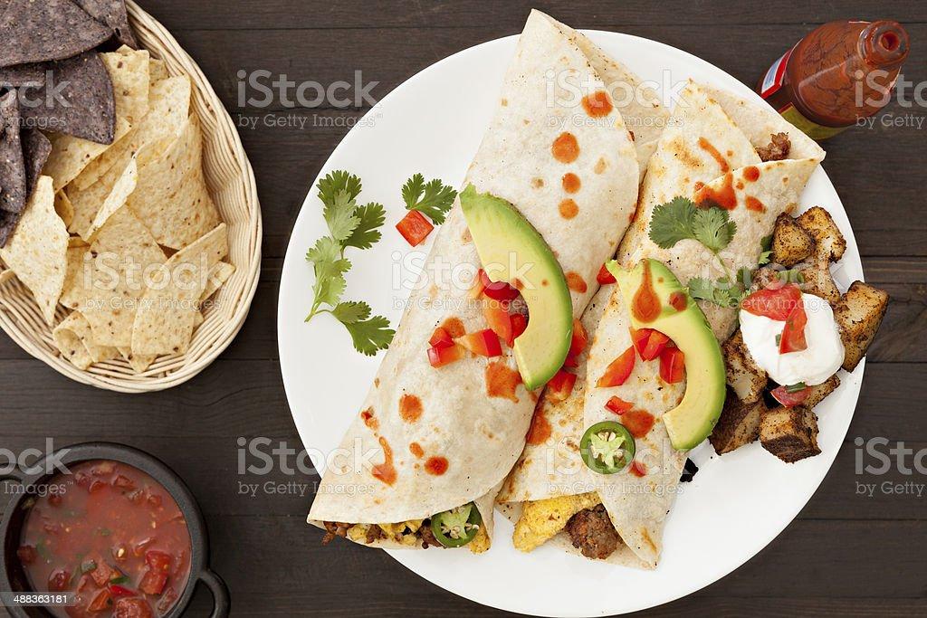 Breakfast Burrito royalty-free stock photo