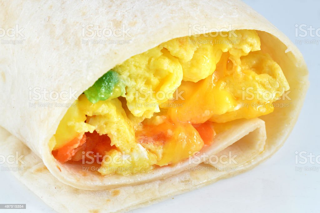 Breakfast Burrito Wrap stock photo