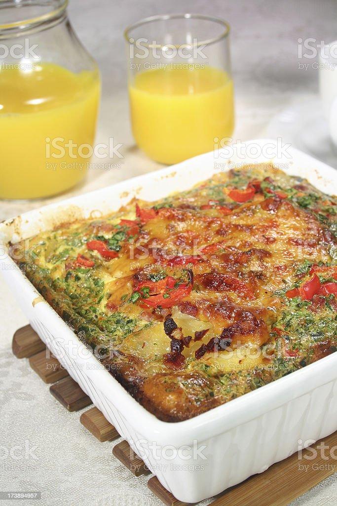 Breakfast Casserole royalty-free stock photo