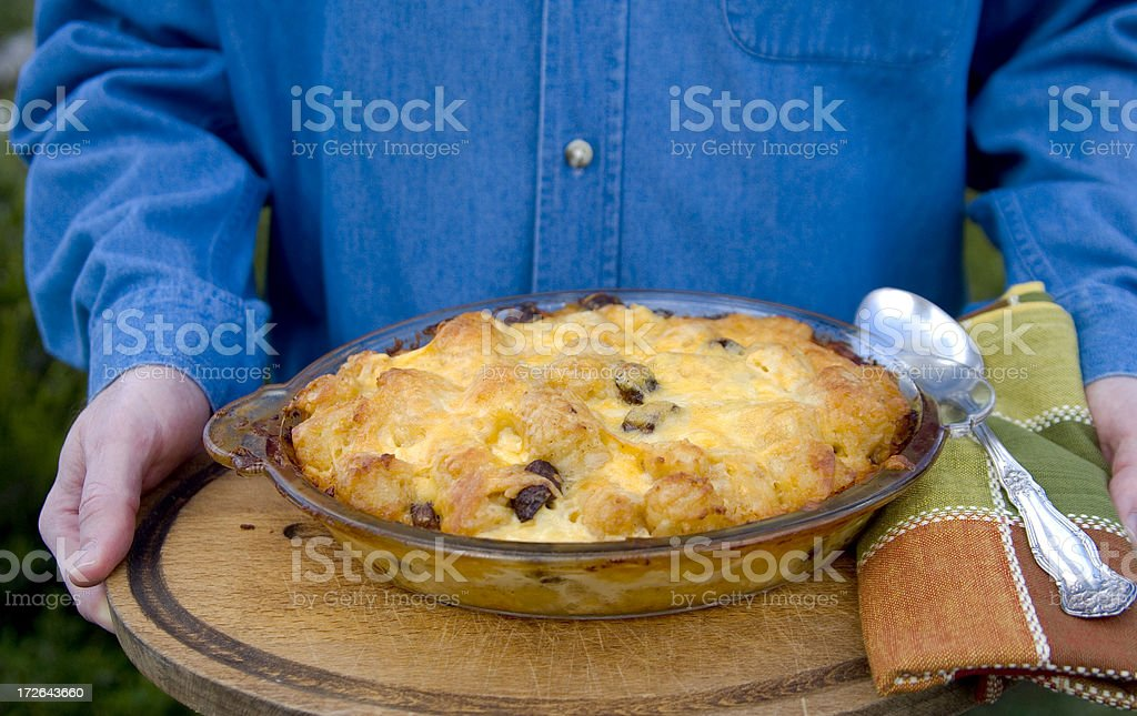 Breakfast Casserole, Served by the Chef! royalty-free stock photo