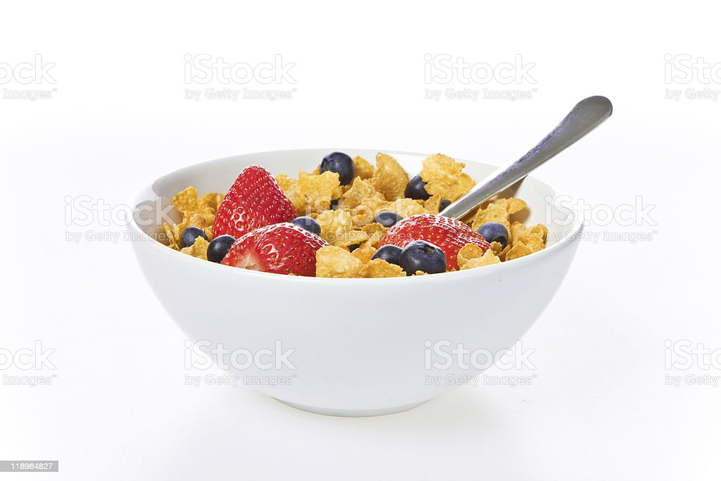 Breakfast cereal bowl stock photo