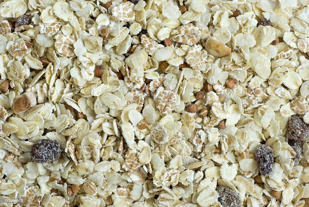 Breakfast Cereal (Muesli) royalty-free stock photo